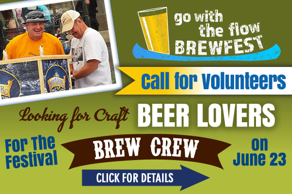 Volunteer for Go with the Flow Brewfest on the River!