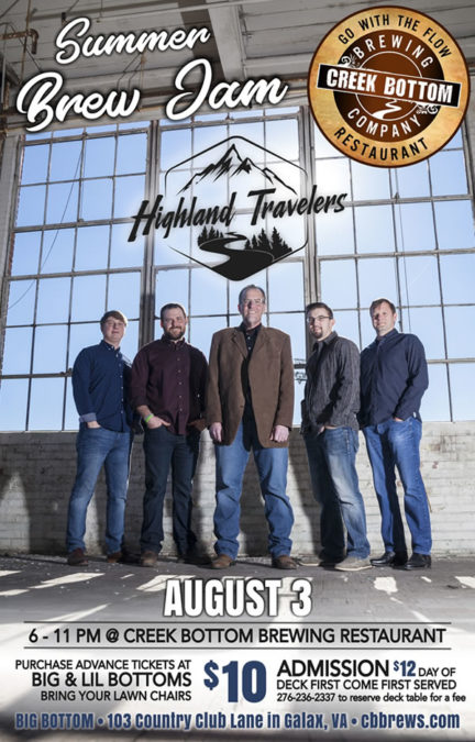 Summer Brew Jam with Adam Steffey & Highland Travelers