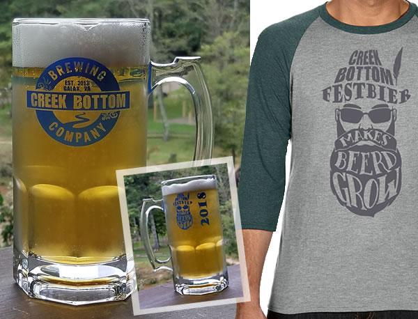 Limited Edition Stein Mugs, Raglan T-Shirts, and CBB FestBier!