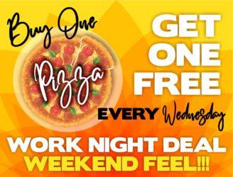 BOGO Pizza Every Wednesday!!!