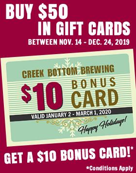 FREE $10 BONUS GIFT CARD