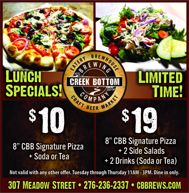 New Limited Time Lunch Specials!